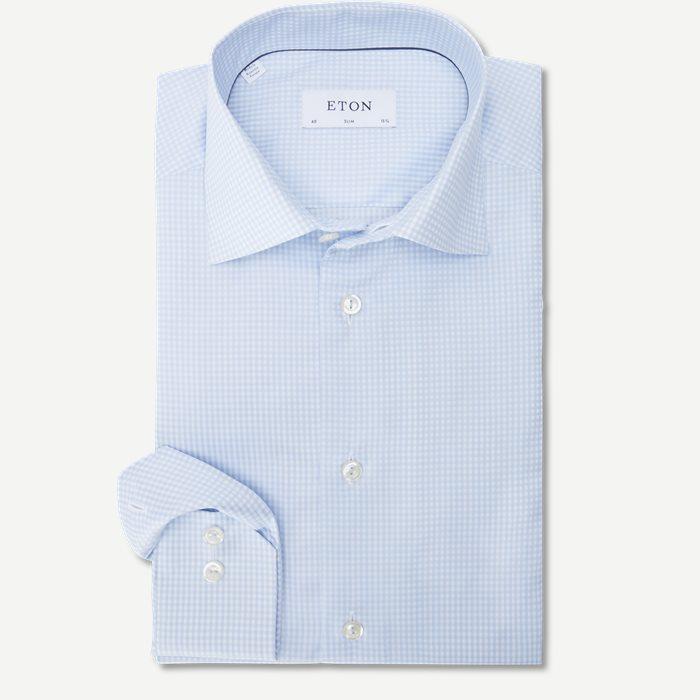 Fine Twill Skjorte - Skjorter - Blå